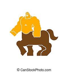 Centaur Heraldic animal. half-man half horse Fantastic...