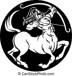 Centaur Sagittarius Zodiac Sign - A Sagittarius archer...