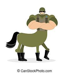 Centaur warrior strong  powerful half-man half horse