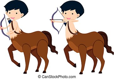Centaur with bow and arrows