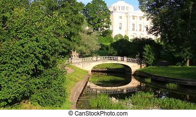 Centaurs bridge in Pavlovsk park Saint-Petersburg Russia