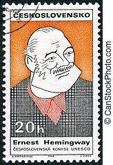 centenary, 1968, personnalités, timbre, série, hemingway...