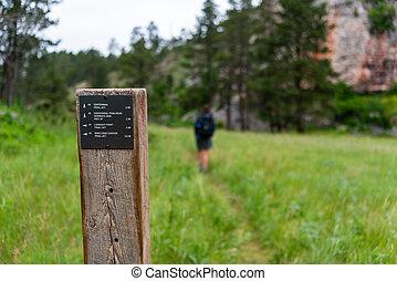 Centennial Trail Junction Sign Post