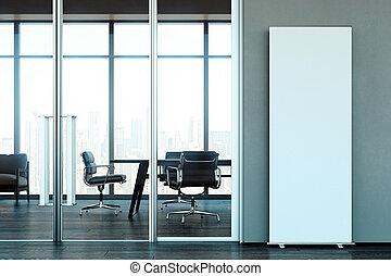 center., επιχείρηση , ακολουθία. , μοντέρνος , rendering., πάνω , ευφυής , κενό , ρολό , 3d