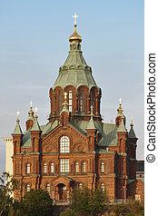 center., πόλη , uspenki, χέλσινκι , ορθόδοξος , φινλανδία , landmark., καθεδρικόs ναόs