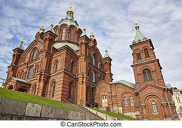 center., πόλη , uspensky., χέλσινκι , εκκλησία , ορθόδοξος , φινλανδία , κληρονομία