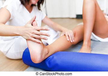 center., медицинская, ноги, физиотерапия, проверить