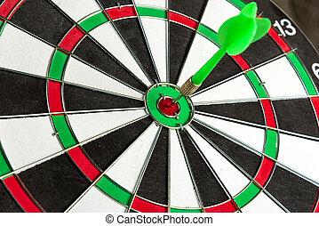 center., 緑, 矢, 衝突, ターゲット