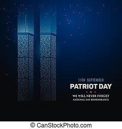 center., 9/11, commercer, souvenir, mondiale, jour