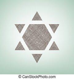 center., brauner, israel, stern, schutzschirm, magen, licht, inverse., fleck, flachs, hintergrund, david, inverted., grün, vector., symbol, ikone