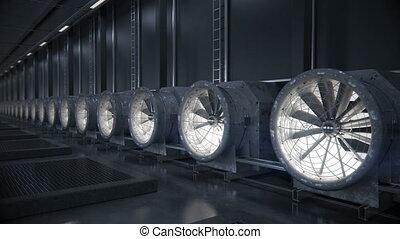 center., chłodzenie, dane, system