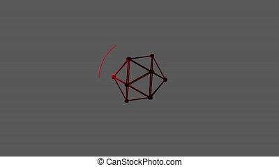 center., chargement, tridimensionnel, formulaire, séparé, lumière, channel., treillis, rayons, vidéo, alpha, cercle, polyhedron., bar.