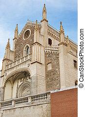 center., cidade, san, neogothic, jeronimo, igreja, europa,...