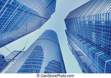 center., ciudad, rascacielos, empresa / negocio