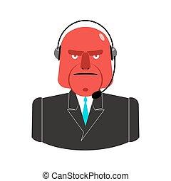 center., cliente, clients., reacción, servicio, enojado,...