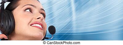 center., cliente, support., llamada, helpdesk.
