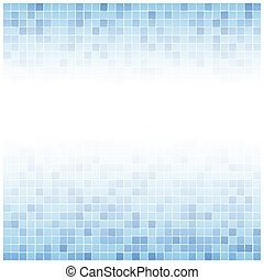 Center faded blue tiles background - Background of little...