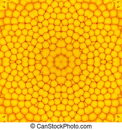 center., fleur, jaune, kaléidoscopique, conception,...