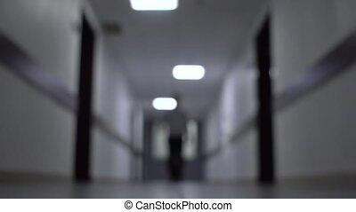 center., marche, couloir, business, fond, brouillé, arrière-...