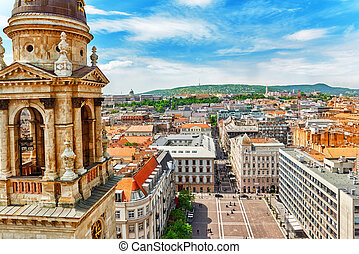 Center of Budapest, View from the St.Stephen Basilica.