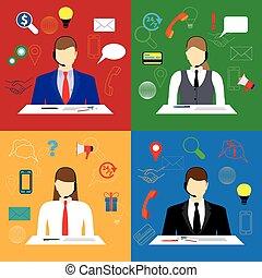 center., poparcie, rozmowa telefoniczna, service.