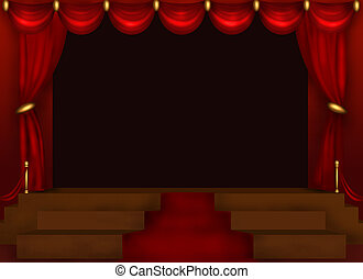 Stage - Center Stage Illustration