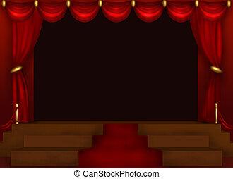 Stage - Center Stage Illustration