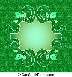 center., tekst, groene, plek, achtergrond