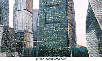 center., ville, moscou, gratte-ciel, business