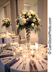 centerpiece, przyjęcie, ślub