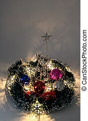 Centerpiece with Christmas ornaments