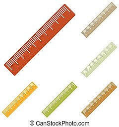 Centimeter ruler sign