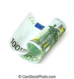 cento, banconota, euro