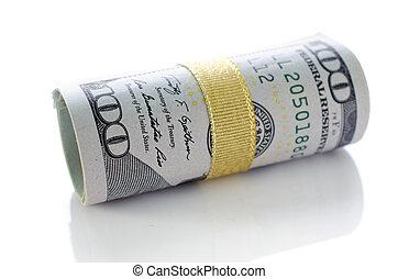 cento, rotolo, uno, dollari