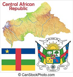 Central African Rep map flag coat - Central African Rep map...