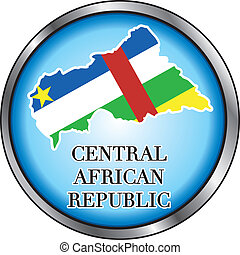 Central African Rep Round Button