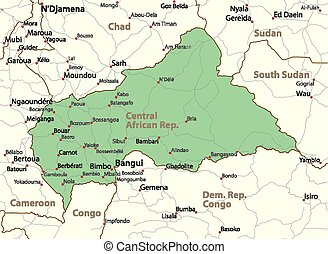 Central African Rep-World-Countries-VectorMap-A - Map of...