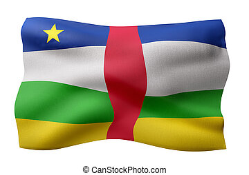 Central African Republic 3d flag
