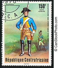 German dragoon - CENTRAL AFRICAN REPUBLIC - CIRCA 1976:...