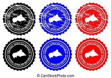 Central African Republic - rubber stamp