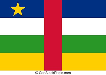 Central African Republic vector flag. Bangui