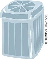 A central air conditioning unit drawn as a cartoon.