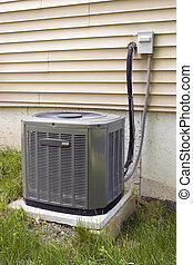 Central Air Conditioning - A residential central air ...