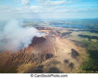 Central america active volcano