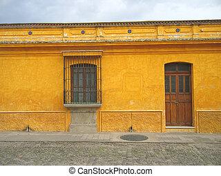 Central america house, Antigua, Guatemala - Central america...