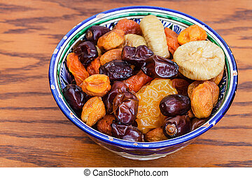 Central Asian dried fruits in traditional bowl - Central ...