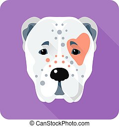 Central Asian Shepherd Dog icon flat design