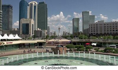 Central Avenue Astana - Central boulevard for pedestrians in...