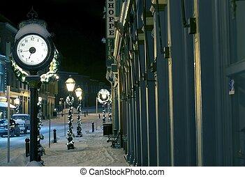 Central City Colorado Main Street Clock and Christmas...