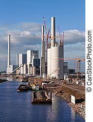 central eléctrica, construcción